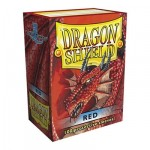 100 pochettes Dragon Shield - Red (rouge) - ACC