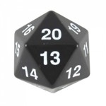 Koplow Games - Enorme Dé 20 Faces - 55mm - Noir - ACC