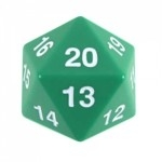 Koplow Games - Enorme Dé 20 Faces - 55mm - Vert - ACC