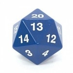 Koplow Games - Enorme Dé 20 Faces - 55mm - Bleu - ACC
