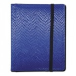 Portfolio Legion - A5 Dragonhide Binder 4 Cases - Bleu - Acc