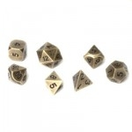Set de 7 Des - Metal RPG - Antique Gold - ACC