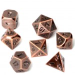 Set de 7 Des - Metal RPG - Antique Copper - ACC