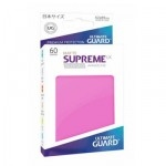60 Pochettes Ultimate Guard - Taille Small - Sleeves Supreme Ux - Rose Matte - Acc
