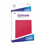 80 Pochettes Ultimate Guard - Sleeves Supreme Ux - Rouge Matte - Acc