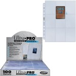 Ultra Pro - Lot De 100 Feuilles De Classeur Fines [9-pocket Pages Silver] - ACC