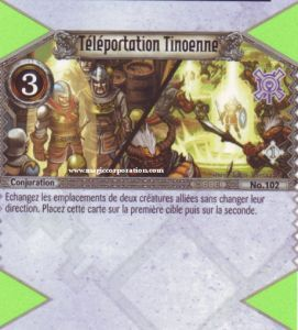 102 - Peu Commune -  Téléportation Tinoenne [Biolith Rebellion - Cartes The Eye of judgment]