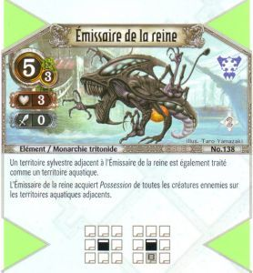 138 - Peu Commune - Emissaire de la reine [Biolith Rebellion 2 - Cartes The Eye of judgment]