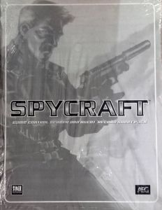 RPG: Spycraft - Game Control Screen and Agent Record Sheet Pack