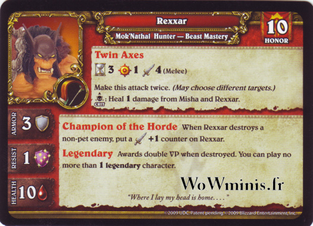 34 - Rexxar [Figurines WOW minis: Spoils of War]