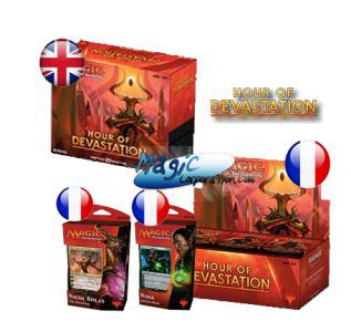 Hour of Devastation / L'Age de la Destruction -  Mega Pack : 1 Boite VF + 2 Planeswalker Deck VF + 1 Bundle VO - (en Français)
