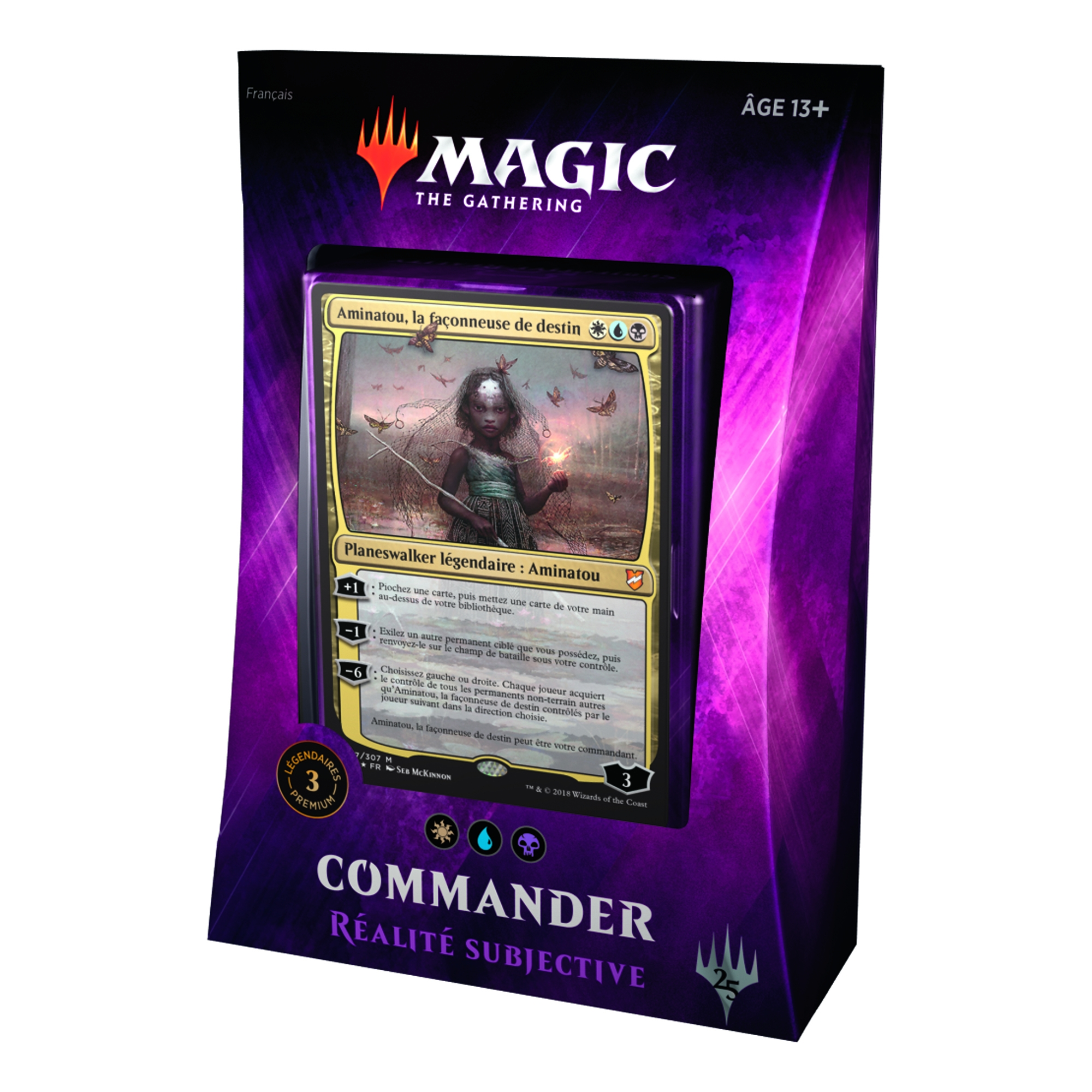 Magiccorporation Deck Preconstruit Commander 2018 Realite Subjective Magic The Gathering