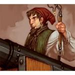Pirates of the Crimson Coast Pirates 114 - Chainshot Cannoneer (Treasure) - Pirates of the Crimson Coast