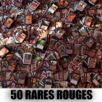 Lot de Cartes Magic the Gathering Lot de 50 rares rouges (lot A)