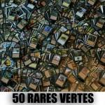Lot de Cartes Magic the Gathering Lot de 50 rares vertes (lot A)