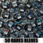 Lot de Cartes Magic the Gathering Lot de 50 rares bleues (lot B)