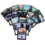 Lot de Cartes Magic the Gathering Lot de 20 terrains de base - Ile - foil