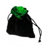 Dés et compteurs Accessoires Pour Cartes Petit sac à dés velour - Noir/Vert - ACC