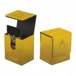 Boites de rangement illustrées Accessoires Pour Cartes Deck Box Ultra Pro - Flip Box aimantée mate - Or Triforce Zelda - ACC