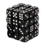 Dés et compteurs Accessoires Pour Cartes Boite De 36 Dés à 6 Faces - Opaque Black - ACC