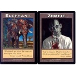 Tokens Magic Accessoires Pour Cartes Double Token/Jeton - Elephant / Zombie