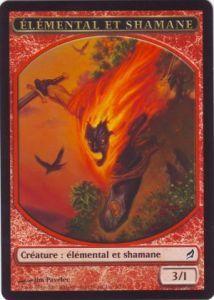 Tokens Magic Magic the Gathering Token/Jeton - Lorwyn - Elémental et Shamane