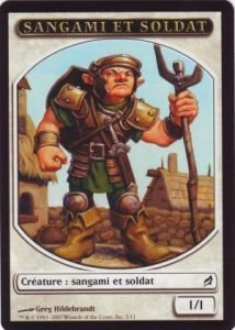 Token Magic Magic the Gathering Token/Jeton - Lorwyn - Sangami Et Soldat