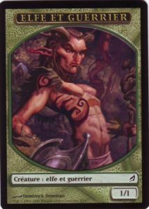 Tokens Magic Magic the Gathering Token/Jeton - Lorwyn - Elfe et Guerrier