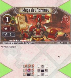 The Eye of Judgment 001 - Commune -  Mage des flammes [Biolith Rebellion - Cartes The Eye of judgment]