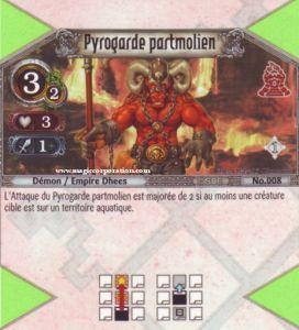 The Eye of Judgment Autres jeux de cartes 008 - Commune -  Pyrogarde partmolien [Biolith Rebellion - Cartes The Eye of judgment]