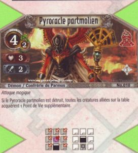 The Eye of Judgment 010 - Peu Commune -  Pyroracle partmolien [Biolith Rebellion - Cartes The Eye of judgment]