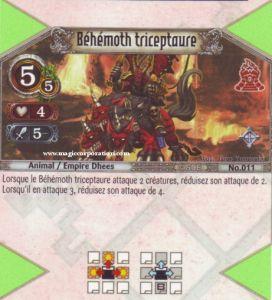 The Eye of Judgment Autres jeux de cartes 011 - Rare -  Béhémoth triceptaure [Biolith Rebellion - Cartes The Eye of judgment]