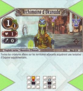 The Eye of Judgment 019 - Commune -  Archimoine d'Okunada [Biolith Rebellion - Cartes The Eye of judgment]