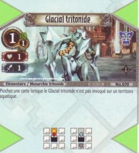 The Eye of Judgment 020 - Commune -  Glacial tritonide [Biolith Rebellion - Cartes The Eye of judgment]