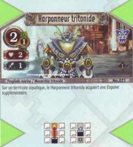 The Eye of Judgment 021 - Commune -  Harponneur tritonide [Biolith Rebellion - Cartes The Eye of judgment]