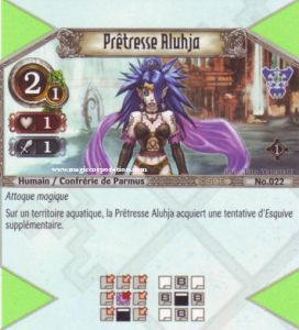The Eye of Judgment 022 - Commune -  Prêtresse Aluhja [Biolith Rebellion - Cartes The Eye of judgment]