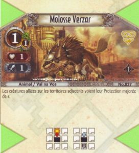 The Eye of Judgment Autres jeux de cartes 037 - Commune -  Molosse Verzar [Biolith Rebellion - Cartes The Eye of judgment]