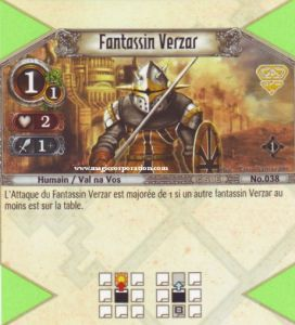 The Eye of Judgment Autres jeux de cartes 038 - Commune -  Fantassin Verzar [Biolith Rebellion - Cartes The Eye of judgment]