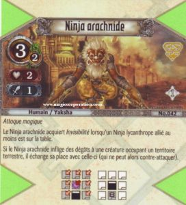 The Eye of Judgment Autres jeux de cartes 042 - Peu Commune -  Ninja arachnide [Biolith Rebellion - Cartes The Eye of judgment]