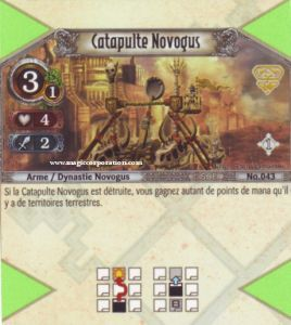 The Eye of Judgment Autres jeux de cartes 043 - Peu Commune -  Catapulte Novogus [Biolith Rebellion - Cartes The Eye of judgment]