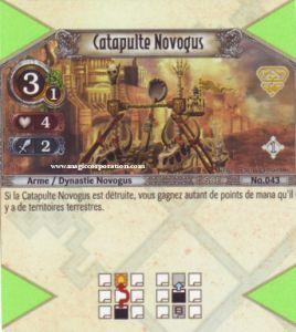 The Eye of Judgment Autres jeux de cartes 043 - Peu Commune -  Catapulte Novogus [Biolith Rebellion - Cartes The Eye of judgment]