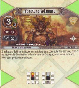 The Eye of Judgment Autres jeux de cartes 044 - Peu Commune -  Yokosuna Sekimaru [Biolith Rebellion - Cartes The Eye of judgment]