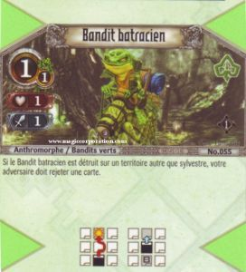 The Eye of Judgment Autres jeux de cartes 055 - Commune -  Bandit batracien [Biolith Rebellion - Cartes The Eye of judgment]