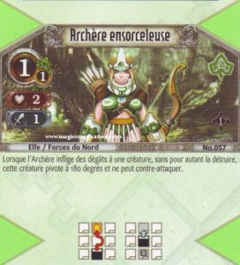 The Eye of Judgment Autres jeux de cartes 057 - Commune -  Archère ensorceleuse [Biolith Rebellion - Cartes The Eye of judgment]