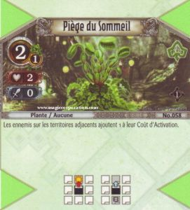The Eye of Judgment Autres jeux de cartes 058 - Commune -  Piège du Sommeil [Biolith Rebellion - Cartes The Eye of judgment]