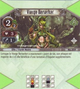 The Eye of Judgment Autres jeux de cartes 059 - Peu Commune -  Vierge Berseker [Biolith Rebellion - Cartes The Eye of judgment]
