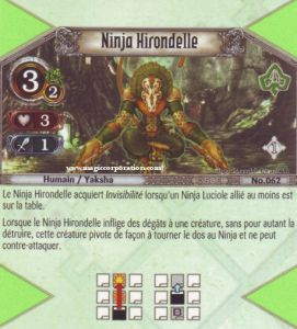 The Eye of Judgment Autres jeux de cartes 062 - Peu Commune -  Ninja Hirondelle [Biolith Rebellion - Cartes The Eye of judgment]