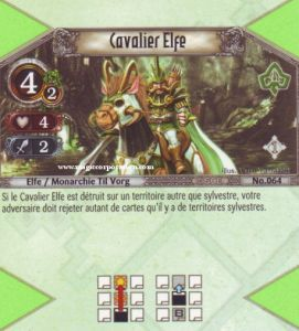 The Eye of Judgment Autres jeux de cartes 064 - Peu Commune -  Cavalier Elfe [Biolith Rebellion - Cartes The Eye of judgment]