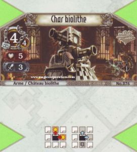 The Eye of Judgment Autres jeux de cartes 076 - Commune -  Char Biolithe [Biolith Rebellion - Cartes The Eye of judgment]