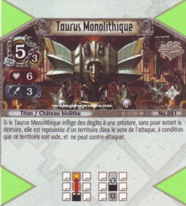 The Eye of Judgment Autres jeux de cartes 081 - Peu Commune -  Taurus Monolithique [Biolith Rebellion - Cartes The Eye of judgment]